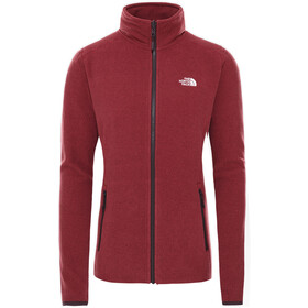 The North Face 100 Glacier Jack Doorlopende Rits Dames, root brown/pomegranate stripe